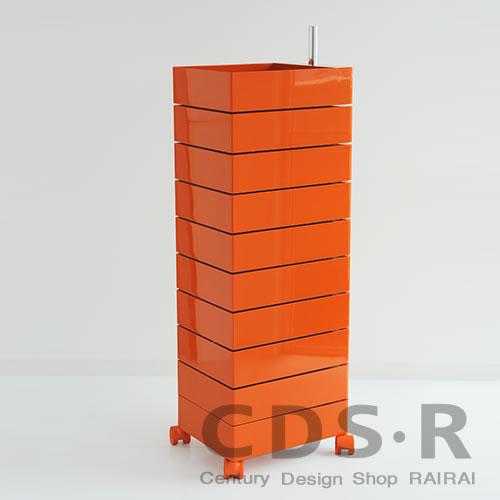 MAGIS (マジス) 360°コンテナー/10段(H127)オレンジ AC270-1658C 引き出し収納・キャスター付き_dp10