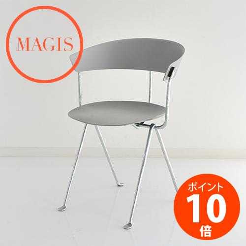 MAGIS (マジス) Officina Chair オフィチーナ チェア SD2050-1761C グレイメタライズド×シルバー ロナン&エルワン・ブルレック_dp10