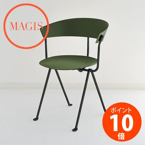 MAGIS (マジス) Officina Chair オフィチーナ チェア SD2051-1555C ダークグリーン×ブラック ロナン&エルワン・ブルレック_dp10
