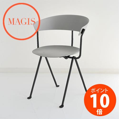 MAGIS (マジス) Officina Chair オフィチーナ チェア SD2051-1761C グレイメタライズド×ブラック ロナン&エルワン・ブルレック_dp10