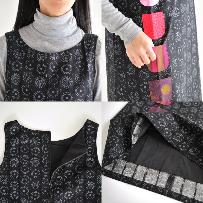 Marimekko 娜嘉/KURKISTUS 一块 97 (014) 深灰色 * 灰色 Marimekko iroinentuck ILOINEN TAKKI 件无袖连衣裙