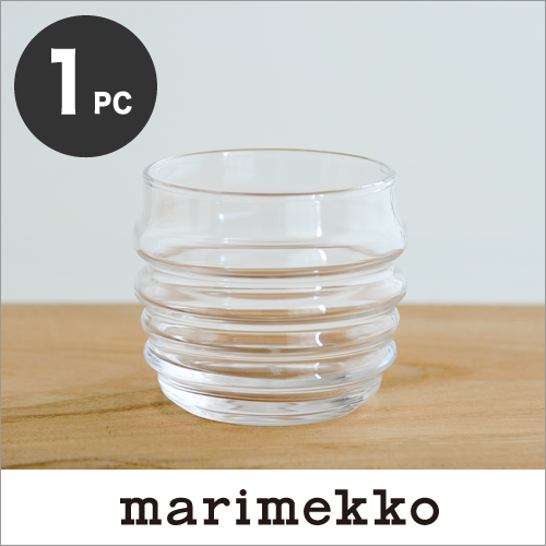 The Comfirmed Marimekko Tumbler / Clear 10(100) マリメッコ Sukat Makkaralla/Socks  Rolled Down/Tumbler Glass Which There Is No Stock In