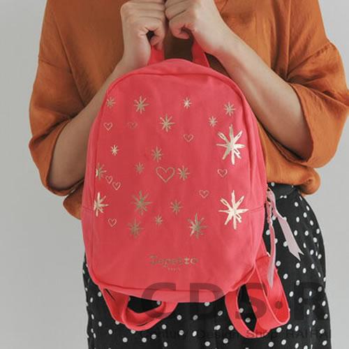 repetto backpack バレエバックパック(50301/74/B0301T) STARS レペット_dp10 コーラルオレンジ