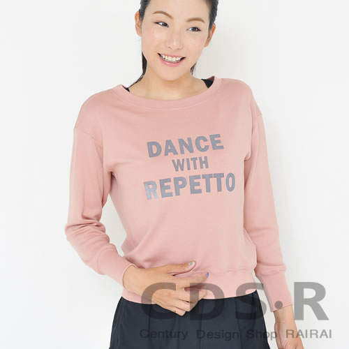 repetto DANCE WITH REPETTO スウェット トレーナー Blush Pink(00442/73/S0442)レペット_dp10