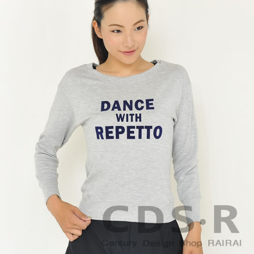 repetto DANCE WITH REPETTO スウェット トレーナー ライトグレー(00442/92/S0442)レペット_dp10
