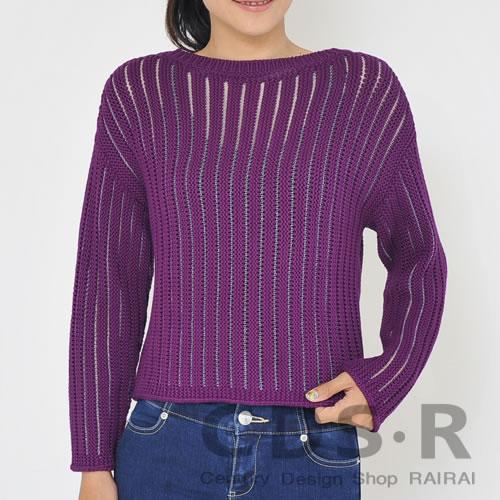 repetto Fancy 3Dニットセーター 24(Orchidee Purple)パープル Sサイズ(00627/24/W0627)レペット_dp10_n