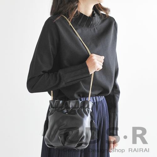 repetto PETIT AIR 巾着バッグ(ブラック)(00606/99/M0606JOLI)レペット_dp10