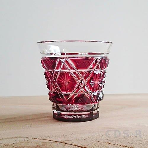 島津興業 創作 薩摩切子 冷酒グラス/紅【鹿児島】【薩摩切子】