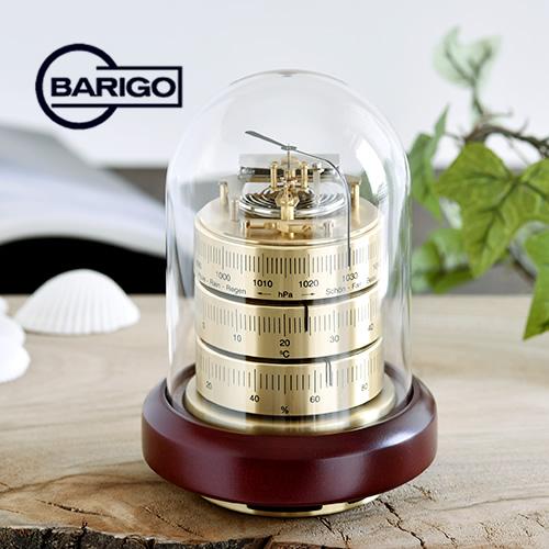 BARIGO バリゴ 温湿気圧計 ドーム型/ゴールド 木製ベース BG3026_dp10