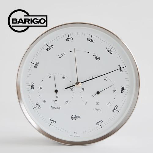 壁掛け用/シルバー バリゴ BARIGO 温湿気圧計 BG0350_dp10