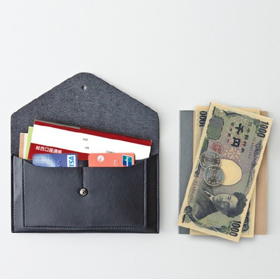 Multi purpose pouch Passport case book case for Smartphone Wallet case ithinkso LAIK ENVELOPE maternal and child Handbook Passport wallet overseas travel security pouch valuables put travel wallet secret toy