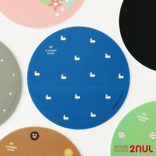 かわいいデザインのマウスパッド 【全商品15%OFF】2nul Standard Round (Mouse Pad) マウスパッド オシャレ デスク ポイント 気分転換 デザインパッド かわいい