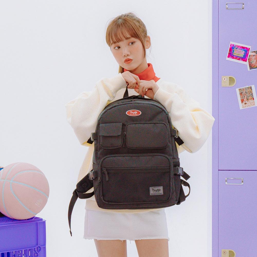2021年モデル SNSで話題のバッグ 割り引き Daylife 正規販売店 夢というストーリーとメッセージをバッグと共に 韓国風 韓国 リュック 新学期 新生活 可愛い 最安値に挑戦 2021年 DAYLIFE MULTI POCKET PLUS BACKPACK 通学リュック スタイル 収納 大容量 高校生 女子高生 大人 レディース バックパック 女子 女性 通学 デイバッグ おしゃれ 中学 高校