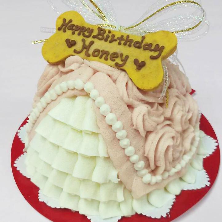 ドレスみたいなお芋の犬用ケーキ☆ 最安値に挑戦 Principal 犬用ケーキ 犬用お誕生日ケーキ ドッグケーキ 買い取り お芋 無添加 わんこケーキ