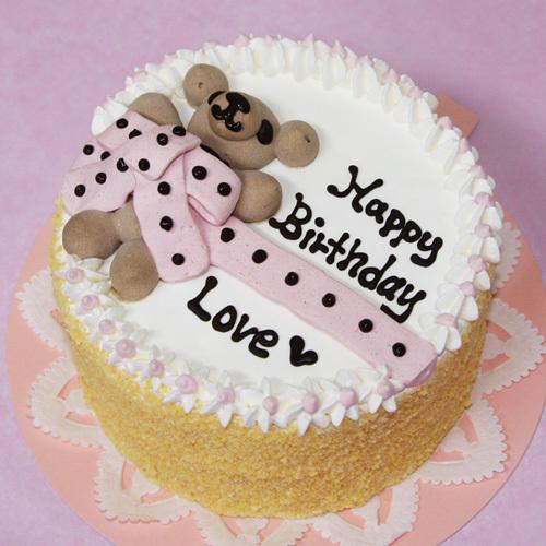 くまちゃんにリボンをかけました 送料無料 一部地域を除く KumaRibbonDeco 犬用ケーキ 犬用お誕生日ケーキ わんこケーキ ドッグケーキ 日本限定
