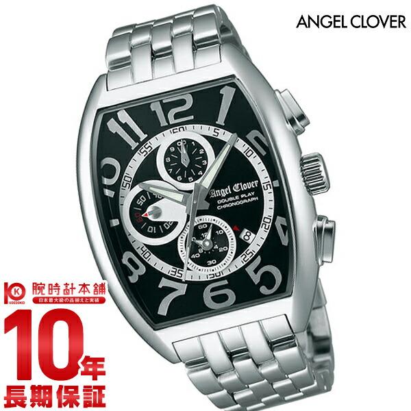 エンジェルクローバー AngelClover ダブルプレイ ブラック/シルバー デイト クロノグラフ DP38SBK [正規品] メンズ 腕時計 時計