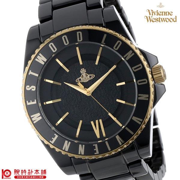 【11日は店内ポイント最大45倍!】【最大2000円OFFクーポン!16日1:59まで】[海外輸入品] ヴィヴィアン 時計 ヴィヴィアンウエストウッド 腕時計 スローン セラミック VV048GDBK メンズ&レディース 腕時計