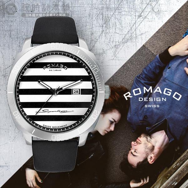 【先着限定最大3000円OFFクーポン!6日9:59まで】 ロマゴデザイン ROMAGODESIGN SUPERLEGER スーパーレジャー RM049-0371ST-SV [正規品] メンズ&レディース 腕時計 時計