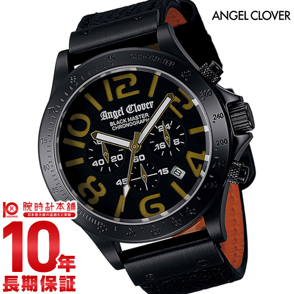 エンジェルクローバー AngelClover ブラックマスターミリタリー ブラック ステンレス クロノグラフ デイト BM46BGD-BK [正規品] メンズ 腕時計 時計