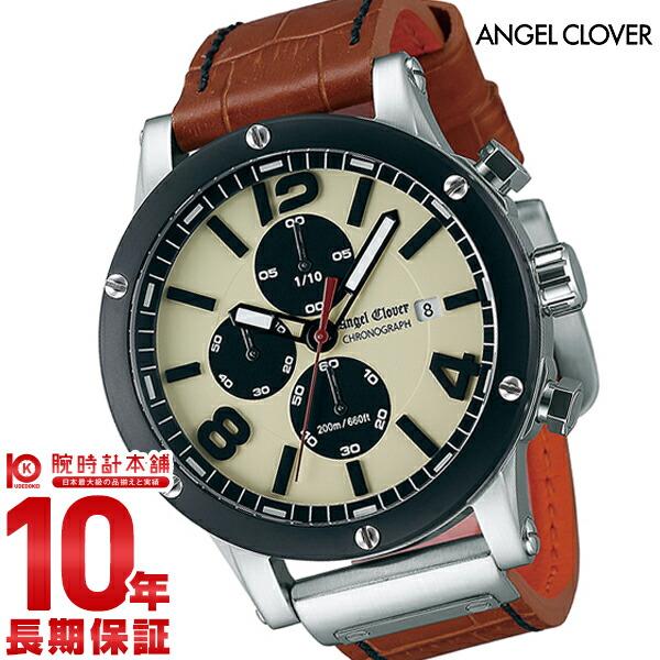 エンジェルクローバー AngelClover エクスベンチャー アイボリー クロノグラフ デイト EVC46BSB-LB [正規品] メンズ 腕時計 時計【あす楽】