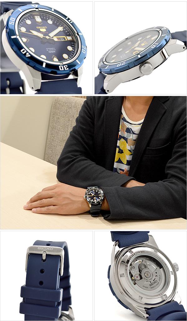 SEIKO5 [해외 수입품]세이코 5 역수입 모델 100 m방수 기계식(자동감김/손으로 말기) SRP677K2 맨즈 손목시계 시계