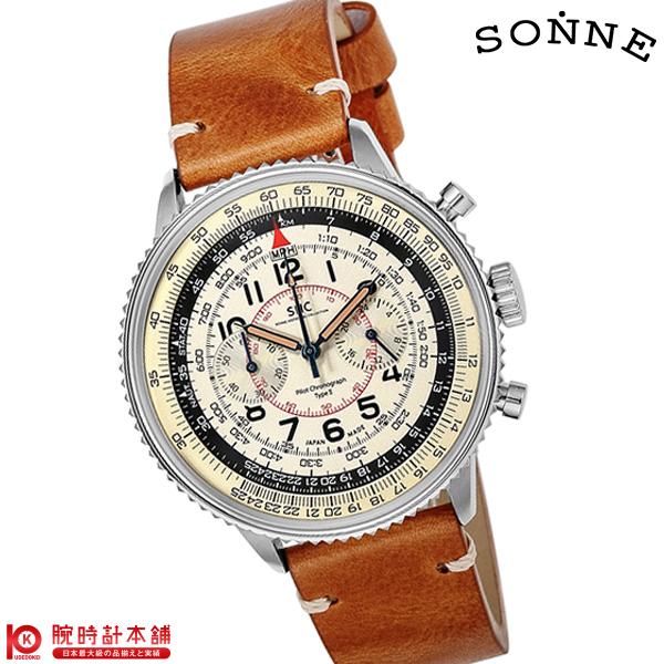ゾンネ SONNE パイロットクロノグラフタイプ2 HI004BK-IV [正規品] メンズ 腕時計 時計