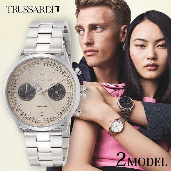 トラサルディ 時計 腕時計 TRUSSARDI メンズ イタリア発ブランド クロノグラフ ステンレス