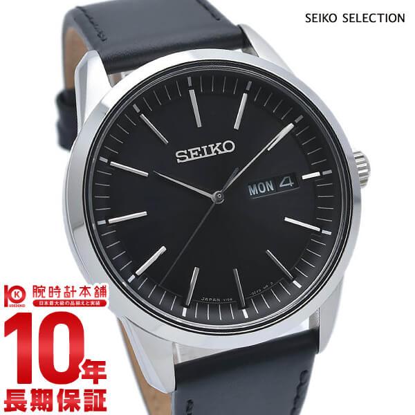 セイコー SEIKO セレクション SELECTION セイコーセレクション ソーラー 日本製 カレンダー SBPX123 腕時計 メンズ 革ベルト ブラック[2019年 新作]【あす楽】