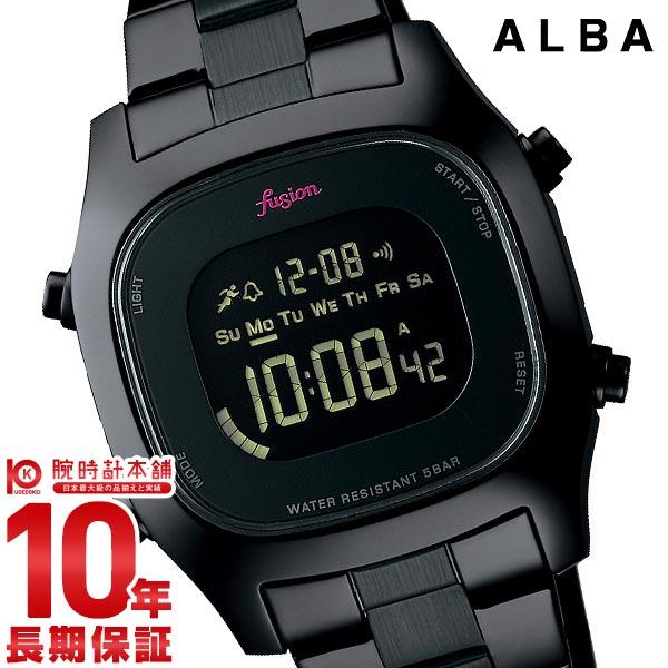 【先着限定最大3000円OFFクーポン!6日9:59まで】 セイコー アルバ 腕時計 レディース メンズ 防水 fusion SEIKO ALBA AFSM401 ブラック ステンレス