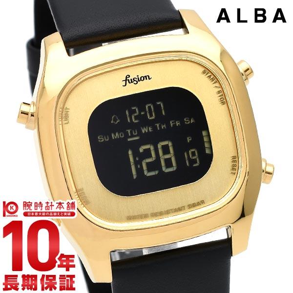 セイコー アルバ 腕時計 レディース メンズ 防水 革ベルト fusion SEIKO ALBA AFSM403 ブラック