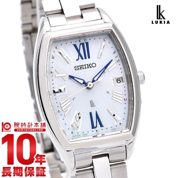 【先着限定最大3000円OFFクーポン!6日9:59まで】 セイコー ルキア ソーラー 電波 レディース SEIKO LUKIA 腕時計 時計 SSVW165 ホワイト 白