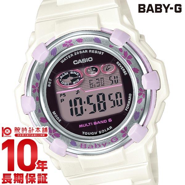 【先着限定最大3000円OFFクーポン!6日9:59まで】 BABY-G 電波 ソーラー レディース デジタル ホワイト ベビーG Cherry Blossom Colors BGR-3000CBP-7JF カシオ CASIO 腕時計 時計