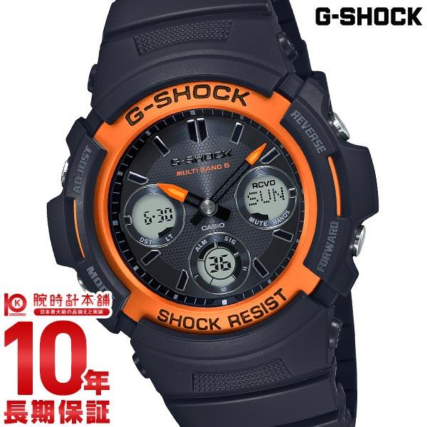 G-SHOCK Gショック 電波 ソーラー ブラック アナログ デジタル メンズ タフソーラー FIREPACKAGE'20 G-SQUAD MULTI BAND6 AWG-M100SF-1H4JR カシオ 腕時計 時計 ジーショック CASIO
