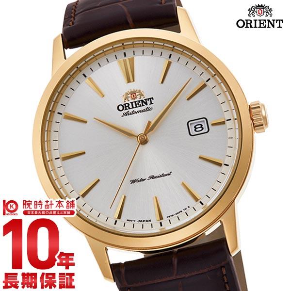 オリエント 腕時計 機械式 メンズ コンテンポラリー ORIENT RN-AC0F04S シースルーバック 革ベルト 日本製 ブラウン 時計