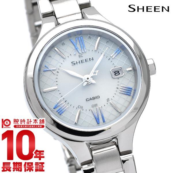 10年長期保証 カシオ シーン SHEEN 公式 腕時計 ソーラー 電波 時刻合わせ シルバー CASIO SHW-7000TD-7AJF レディース チタン セール特価品 時計