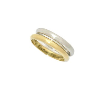 "Cartier リング ""WEDDING BAND"" K18 PT950 #8 新品同様 【中古】"