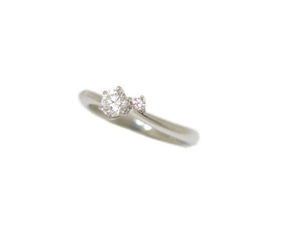 ROYAL ASSCHER DAIAMOND ダイヤモンドリング PT900 #8.5 新品同様 【中古】