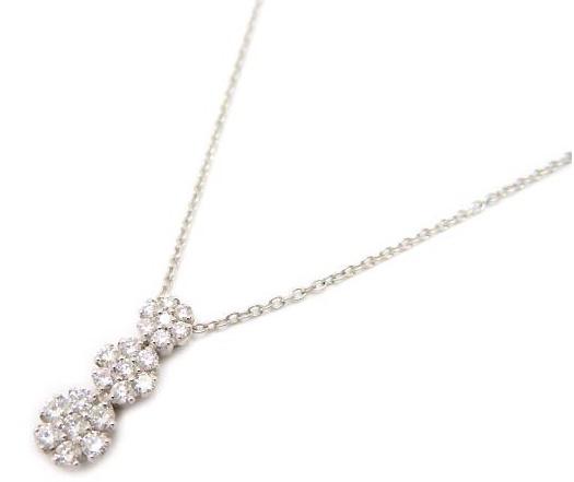 PonteVecchio ダイヤモンド ネックレス K18WG D,0.43ct 六本木ヒルズ購入品 新品同様【中古】