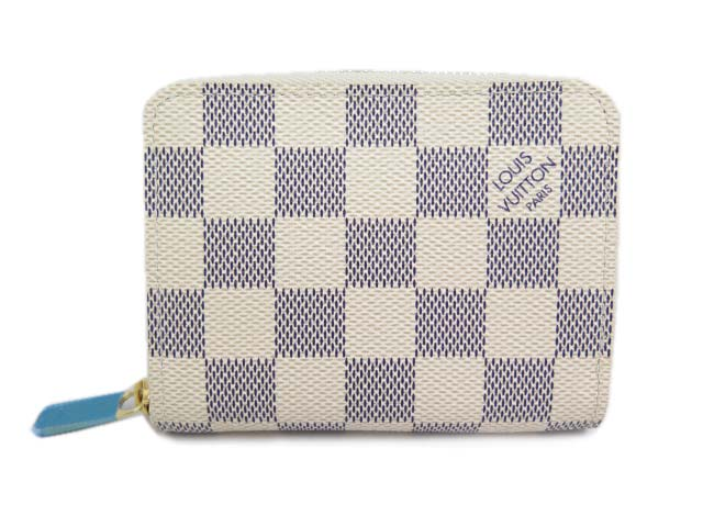LOUIS VUITTON ジッピー・コインパース ダミエ・アズール 未使用 【中古】