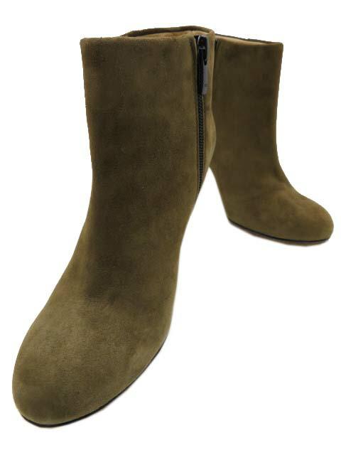 CORSO ROMA, 9 アンクル ブーツ ブーティー スエードカーキー #37 美品【中古】