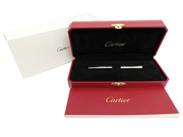 Cartier ダイアリー ボールペン  メタル/パラジウムフィニッシュ ブルー レジン カボション Cartierオンライン 購入品 現行 美品 【中古】