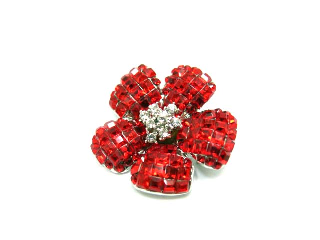FOXEY FlowerBrooch レッド 26645 【中古】