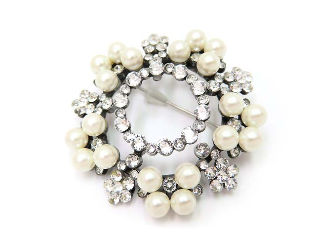 """FOXEY Brooch """"Snw Drop""""パールブローチ35995 新品同様【中古】"""