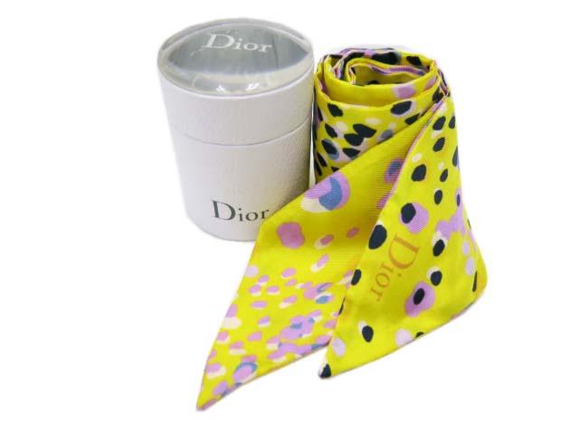 "Dior スカーフ""MITZAH"" シルク100% 新品同様 【中古】"