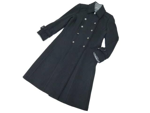 SALE CHANEL コート ブラック 40 A1 【中古】