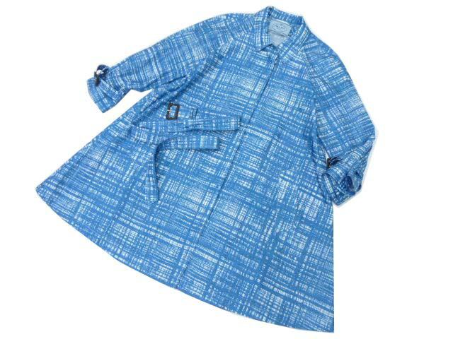 PRADA コート ブルー×ホワイト 38 A1 【中古】