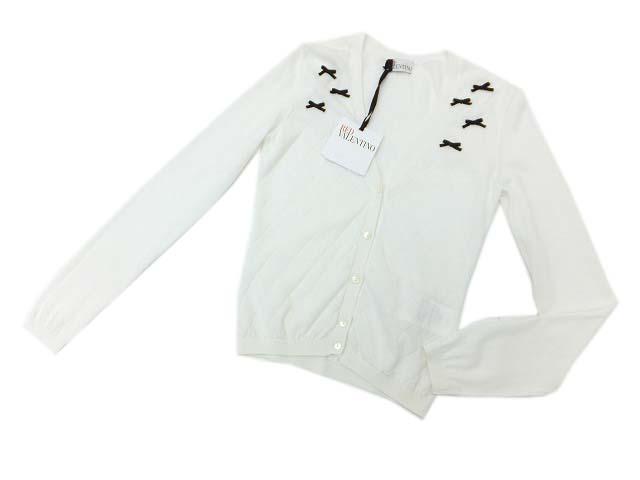★SALE★販売価格¥18,900を!!!RED VALENTINO カーディガン ホワイト×ブラック S S2 【中古】