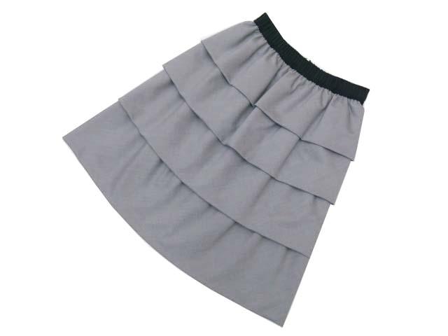 TO BE CHIC スカート グレー×ブラック 40 A1美品 【中古】