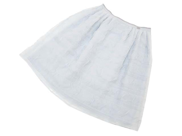 FOXEY BOUTIQUE 35702 Skirt(Cotton Candy) アイスグレー 38 S1 【中古】