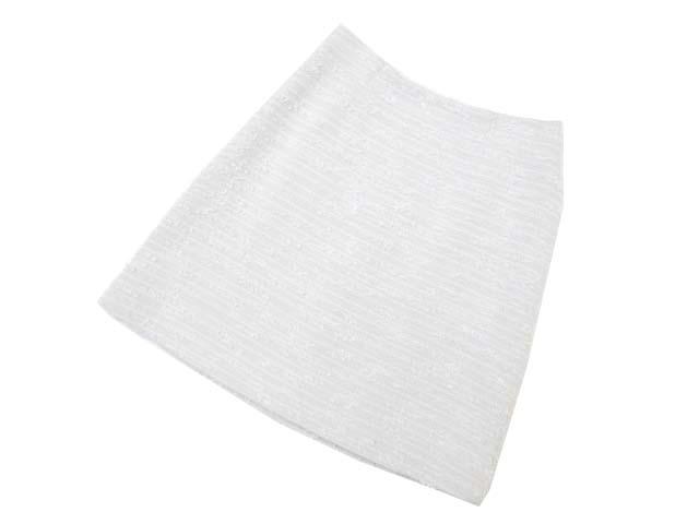FOXEY BOUTIQUE 35555 Gray Tweed Skirt ライトグレー 38 S2 【中古】